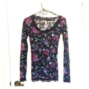 Women's Free People Top Lace Top Size Small